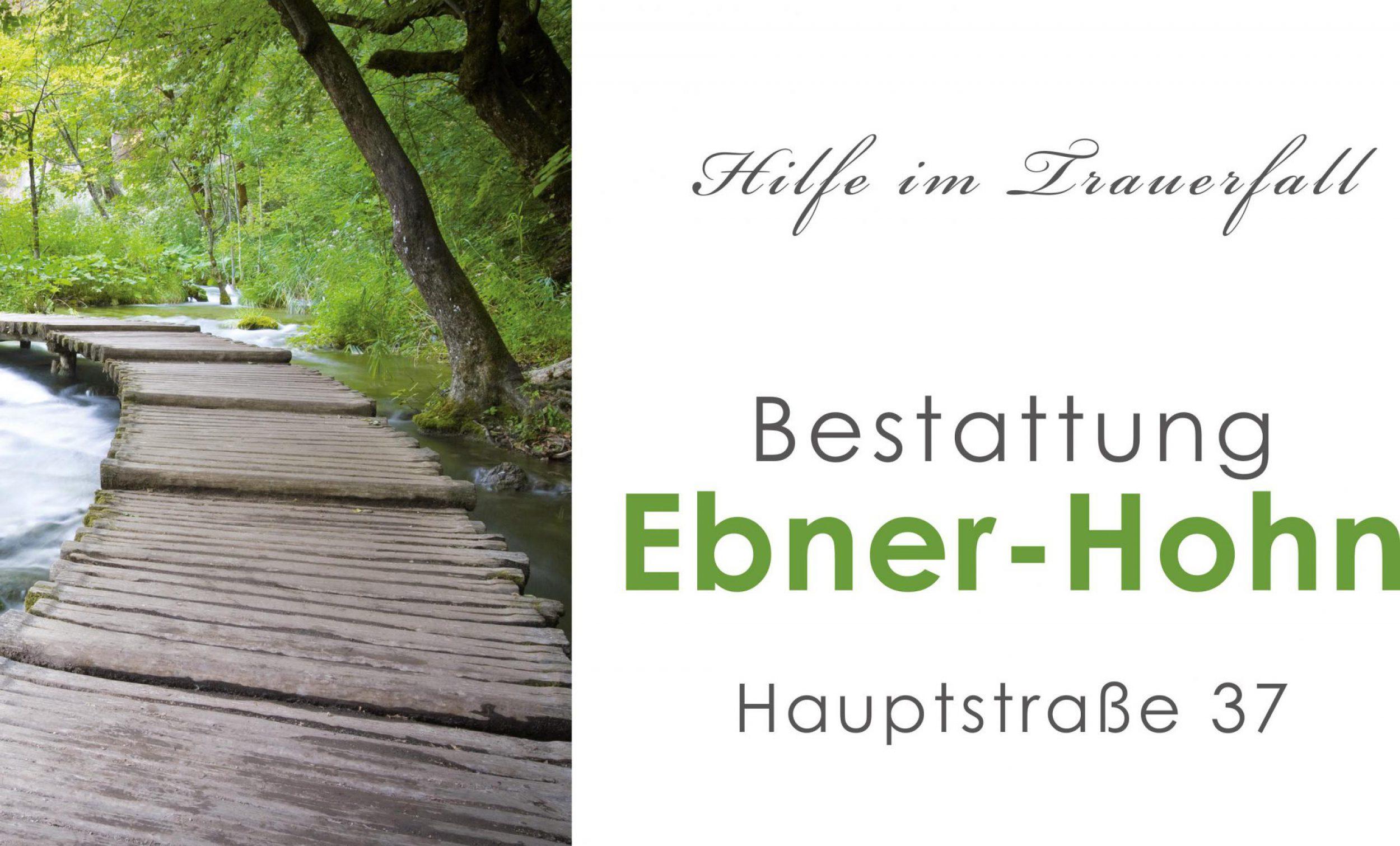 Bestattung Ebner-Hohn